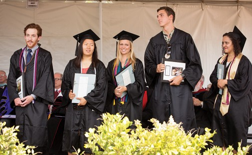 Matthew Bennett, Myvy Ngo, Alison Hensley, C.J. Miller and Paige Harris, left to right