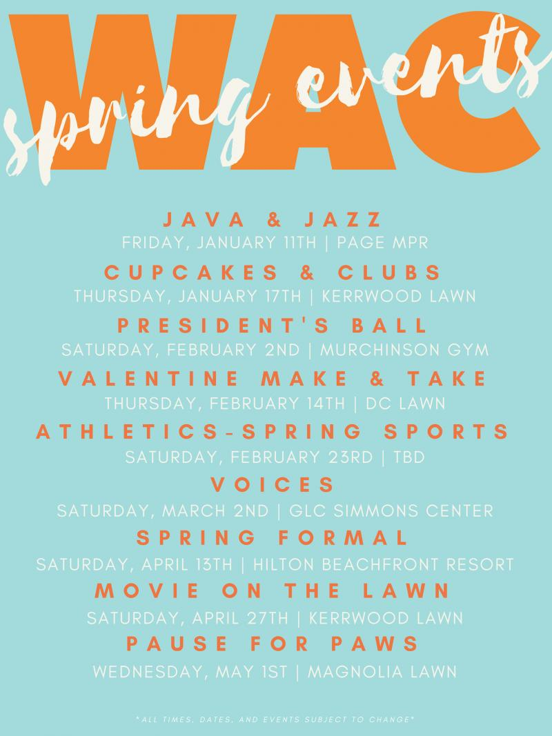 WAC Spring Events '19